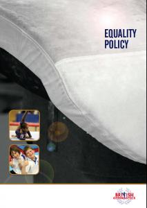 BG Equality Policy