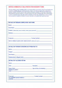 BG Incident Report Form