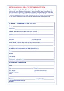 BG Incident Report Form